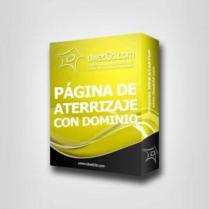 comprar paquete de diseño web de pagina de aterrizaje con dominio