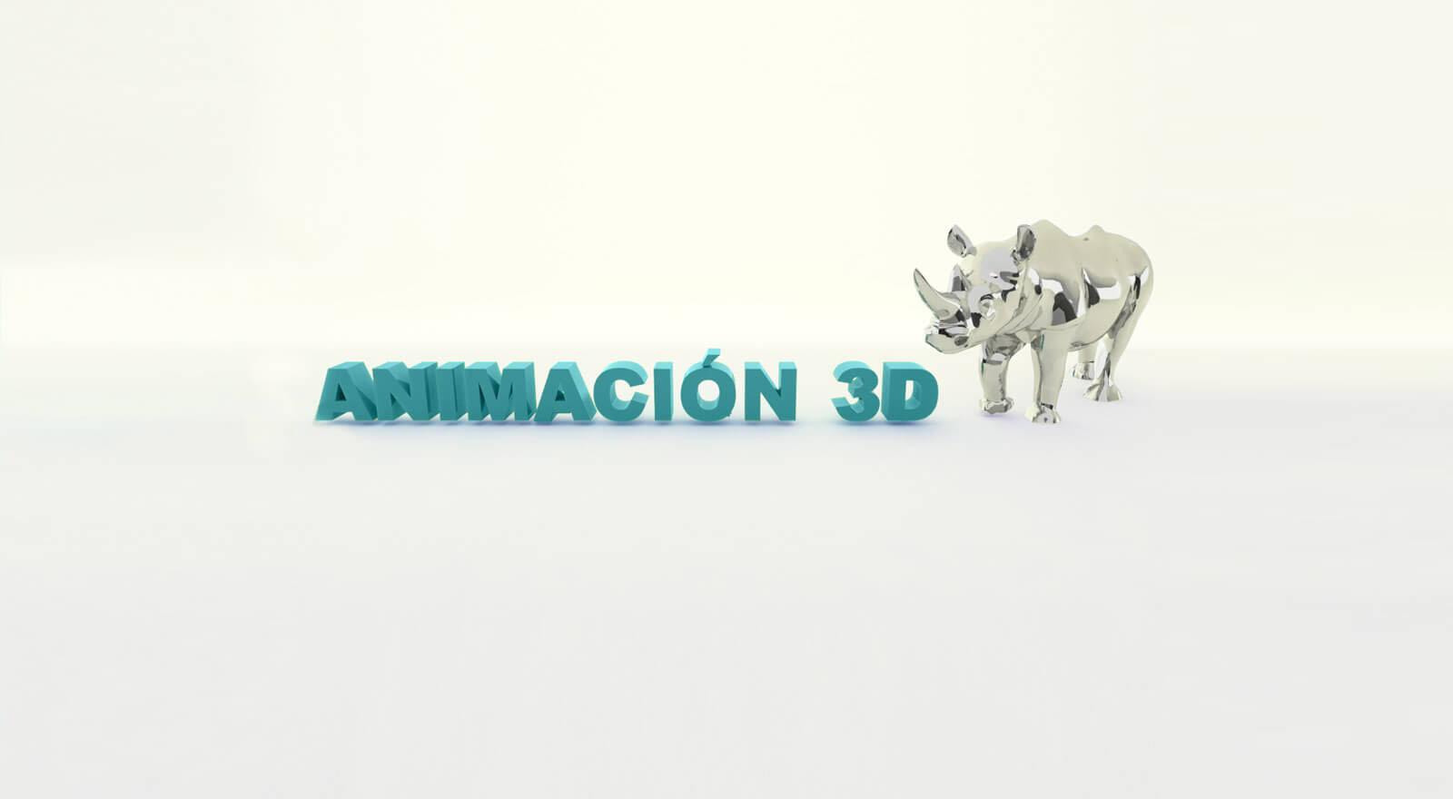 rinoceronte en 3d plateado animacion 3d